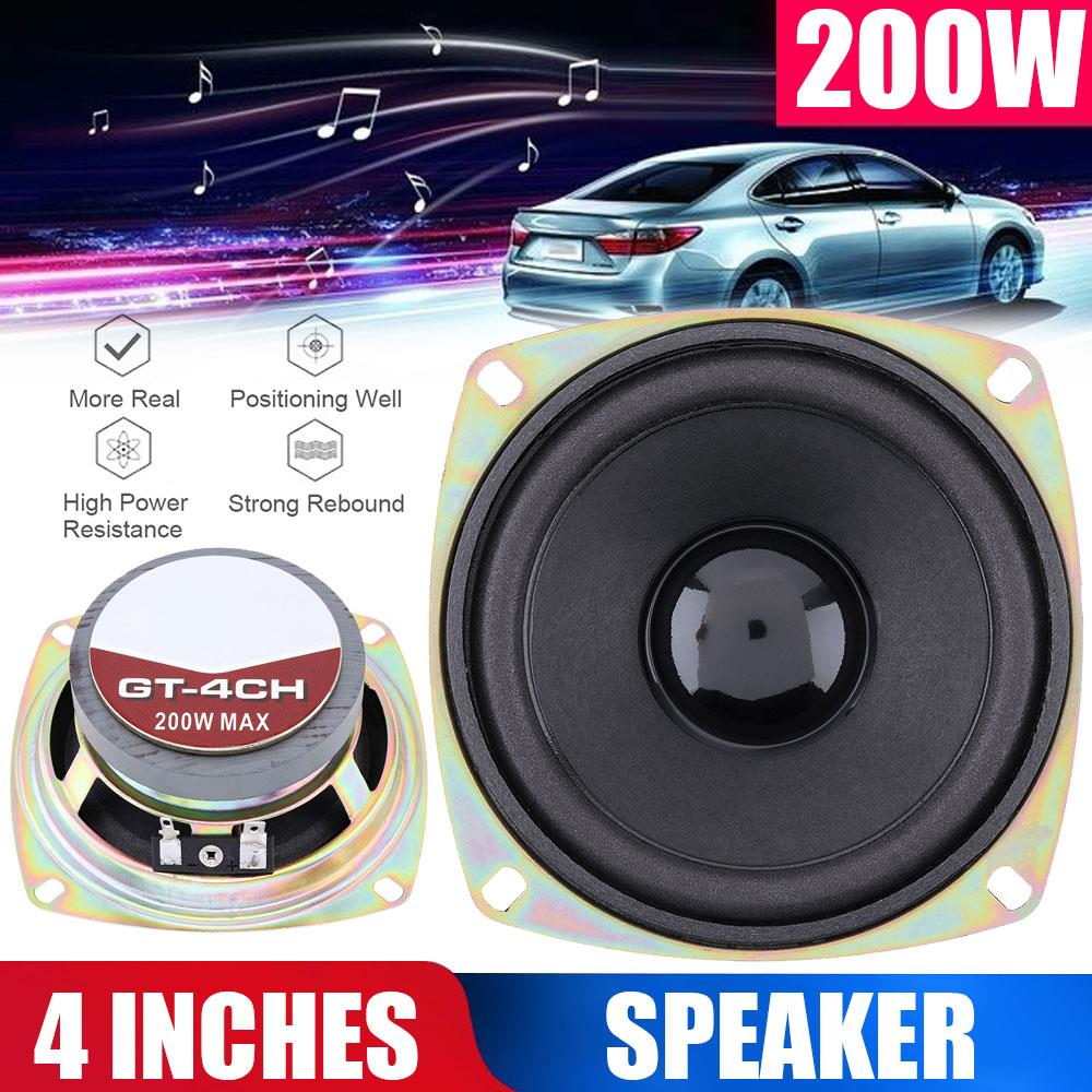Vehemo 4 Inches Loudspeaker Coaxial <font><b>Speaker</b></font> <font><b>Car</b></font> Stereo for Auto <font><b>Audio</b></font> Auto <font><b>Speakers</b></font> 2020 Vehicle Door Horn for Music image
