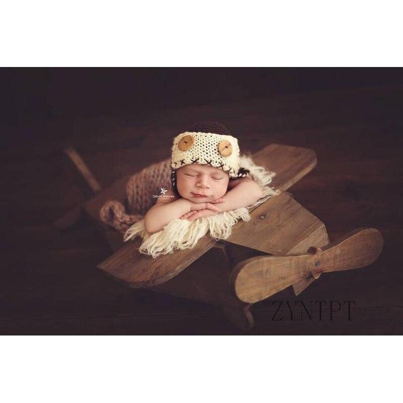 Avion en bois posant panier pour nouveau-né photographie accessoires bébé Photo Shoot accessoires Photoshoot remplisseur paniers Fotografia
