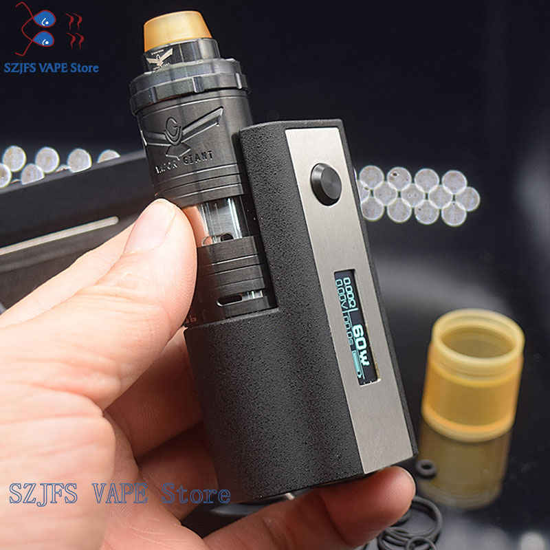 SXK Stealth 60W Mod With Vapor Giant V6 V 6 M5S 23mm RTA Vape E-Cigarette 0.91 OLED Screen Vape 18650 Battery Mechanical Pen Kit