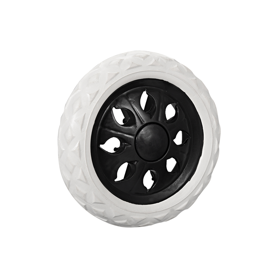 uxcell Shopping Cart Wheel Trolley Caster Replacement 6.5 inch Dia Rubber Foaming Black 10kg / 22lb per wheel Capacity