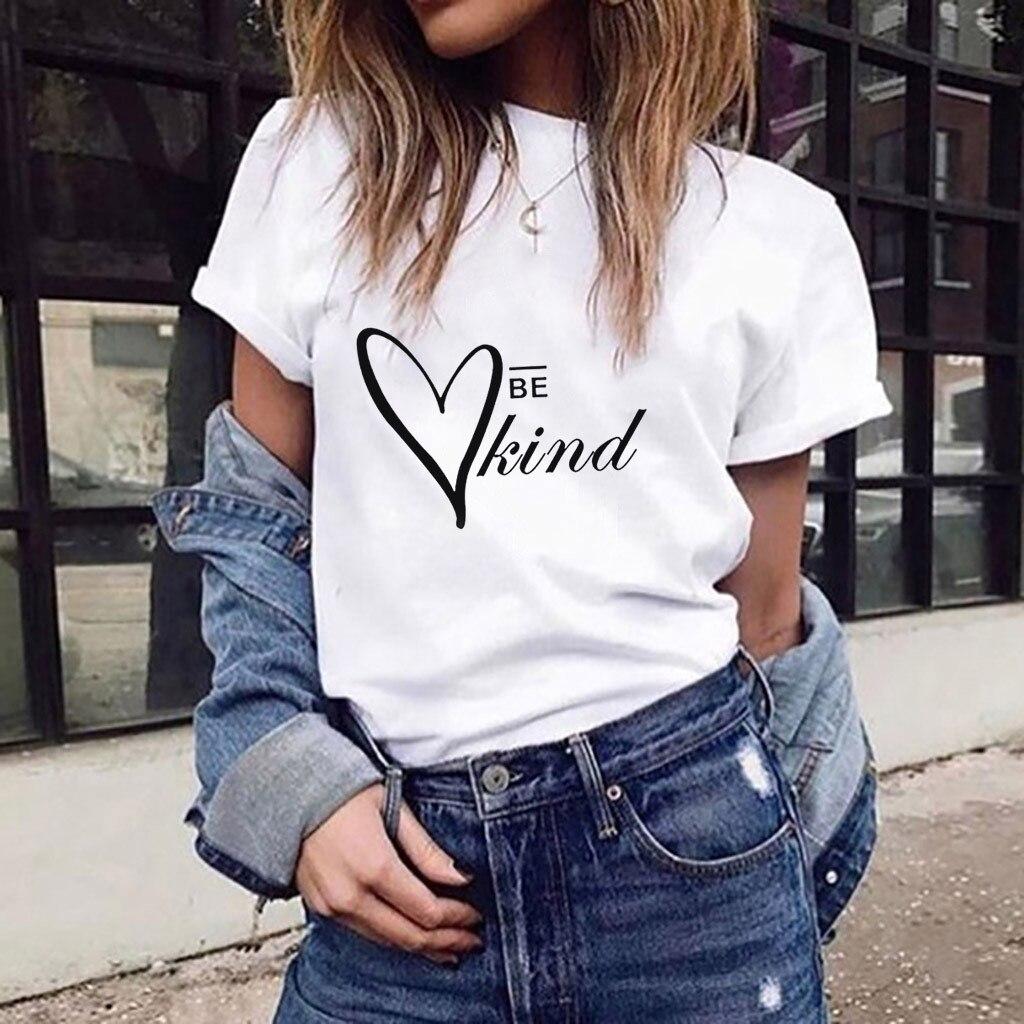 Yokuş aşağı Neue modu Frauen kadınlar nazik T shirt yaz yüksek kalite moda pamuk kısa kollu T gömlek bayanlar için giyim