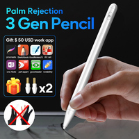 Para caneta stylus para apple pencil  ipad  rejeição palma para ipad 9.7 2018 pro 11 12.9 2020 air 3 2019 10.2 mini caneta inteligente 5 para