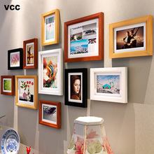 11 Pcs Nature Solid Simple Wooden Picture Frame For Wall Hanging Wedding Couple Recommendation Black White Pictures Frames Gift