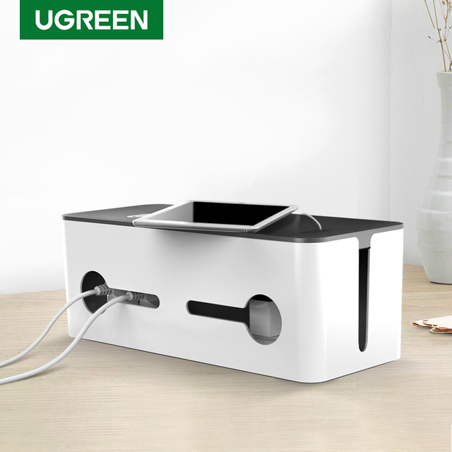 Ugreen Thuis Elektronische Accessoires Kabel Organizer Box Voor Power Strip Opslag Usb Charger Cable Management Hoge Capaciteit Doos