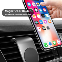 Magnetic Car Phone Holder L Shape Air Vent Mount Stand in GPS Mobile For iPhone 11 XR X 11Pro Samsung S9 Xiaomi
