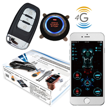 Cardot 4G gps Smart Pke Keyless Entry Remote Starter motor Start Stop Auto Alarm
