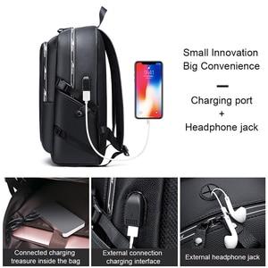 Image 4 - Мужской водонепроницаемый рюкзак из ПУ кожи, с USB зарядкой