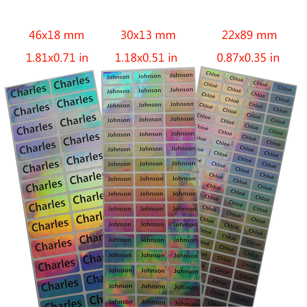 Children Personalized Name Stickers Students Multi Color Labels Personal Belongings Tag Customized Adhensive Name Stickers