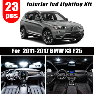 For 2011-2009 2010 2011 2012 2013 2014 2015 2016 2017 BMW X3 F25 23pcs LED License plate lamp + Interior dome Light Kit package