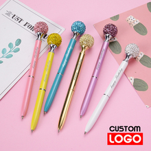 New Colored Drill Ball Ballpoint Pen Advertising Gift Pen Colored Gem Pen Custom Logo School Supplies Lettering Engraved Name new engraved name pen gold foil metal ball point pen custom logo company name writing stationery gift office school pen with box