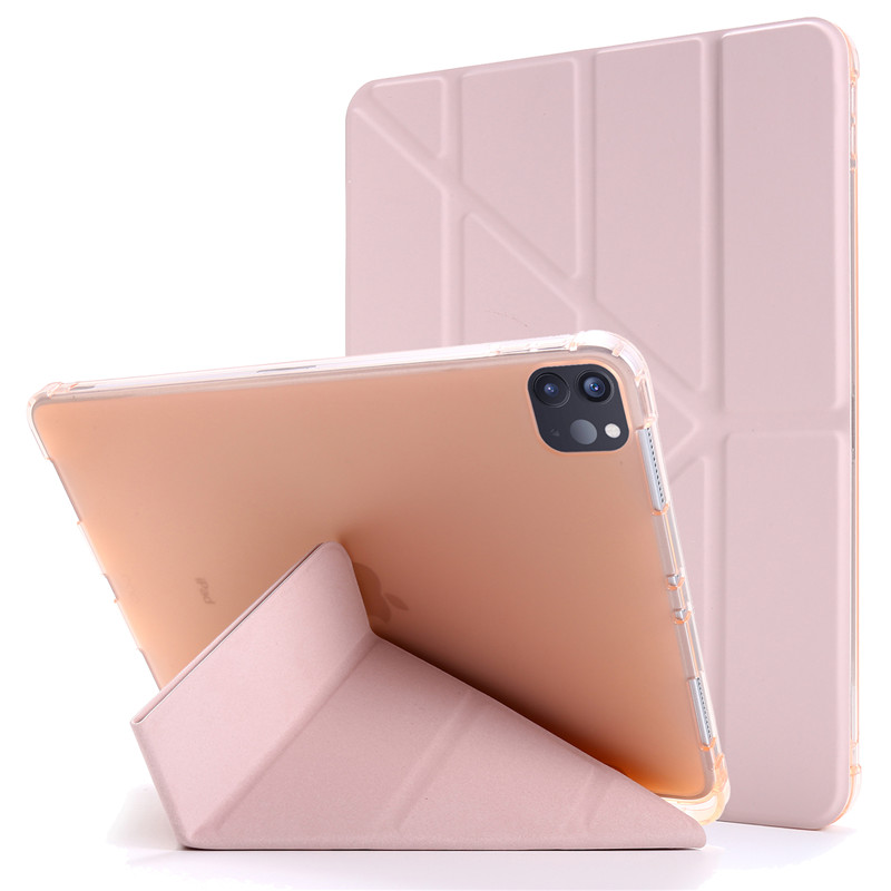 rose gold Black Funda For iPad Pro 11 2020 Case with Pencil Holder PU Leather Flip Stand Smart Protective
