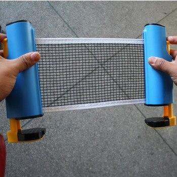 цена Retractable Table Tennis Net PingPong Plastic Mesh Net sports euquipment Portable ping pong Balls Kit Net for pingpong ball net онлайн в 2017 году