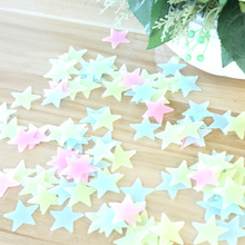 3D Star Luminous Wall Fluorescent Sticker Bedroom Room Ceiling Christmas Decorations for Home Self-adhesive Wall Sticker 3d wall sticker self adhesive for bedroom