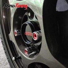 4 pçs 66mm 61mm raios centro da roda tampas hub apto para volk ce28 aro te37 tóquio tempo ataque carro jantes capa hubcap