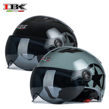 IBK 3/4 Motorbike Helmets Moto Electric Bicycle Stylish Universal Casco Casque Open-Face with sun visor Helmet IBK-035 open face helmet visor motorcycle helmet bubble visor casco moto visor lens capacete bubble shield motorcycle helmets