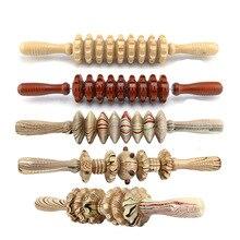 Bâton de Massage avec rouleau en bois, masseur musculaire du corps entier, outil de récupération des points de relaxation profonde