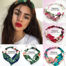 TWDVS 1PC Women Print Headbands Summer Ladys Hair Bands Soft