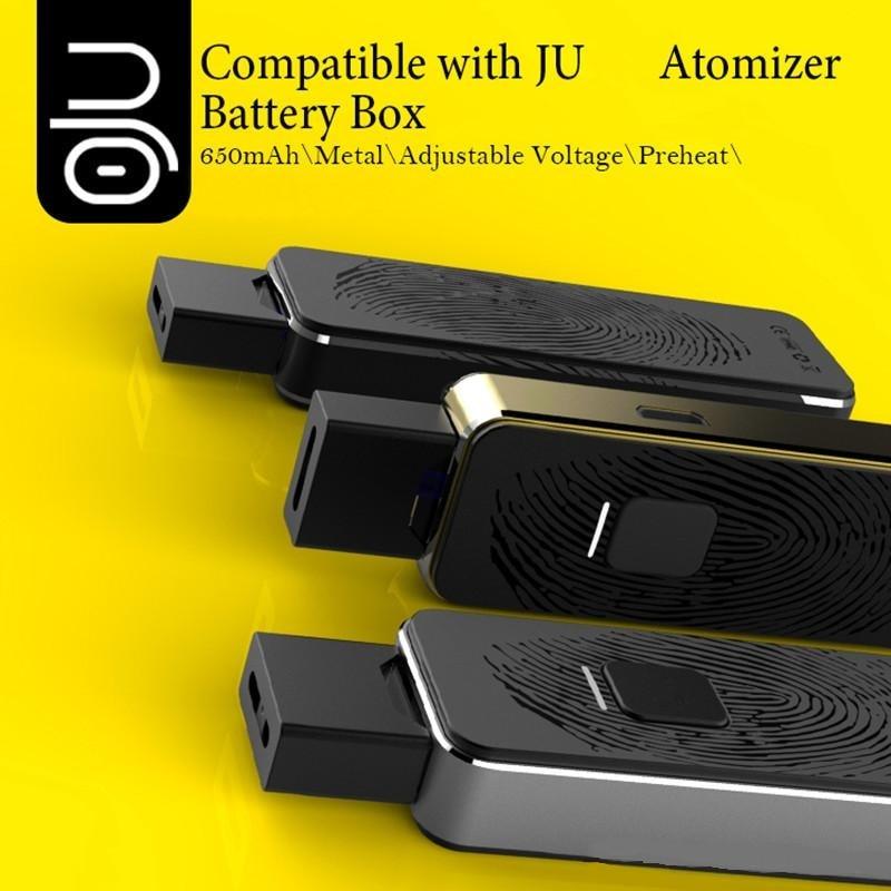 New OJU Adjustable Voltage Vape Pen 650mAh Battery e Cigarette Starter kits Compitable with JUUL Pods MYLE pods Pre heat Mod