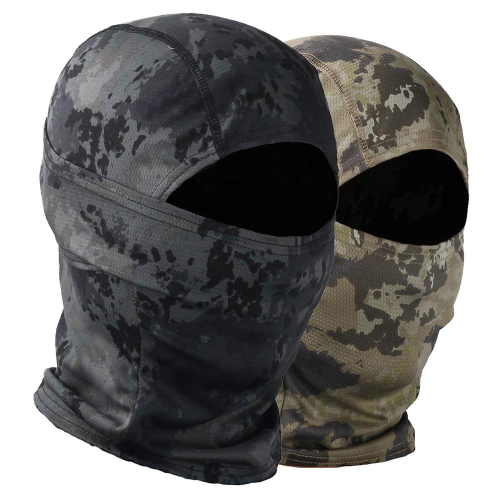 Camouflage Balaclava Tactical Motorcycle Face Mask Motorbike Wargame Face Shield Hunting Helmet Cap Military Moto Skull Mask
