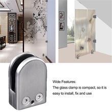 Высококачественные стеклянные зажимы из нержавеющей стали регулируемый настенный, стеклянный кронштейн для зажима 6-8 мм стеклянный держатель с винтом