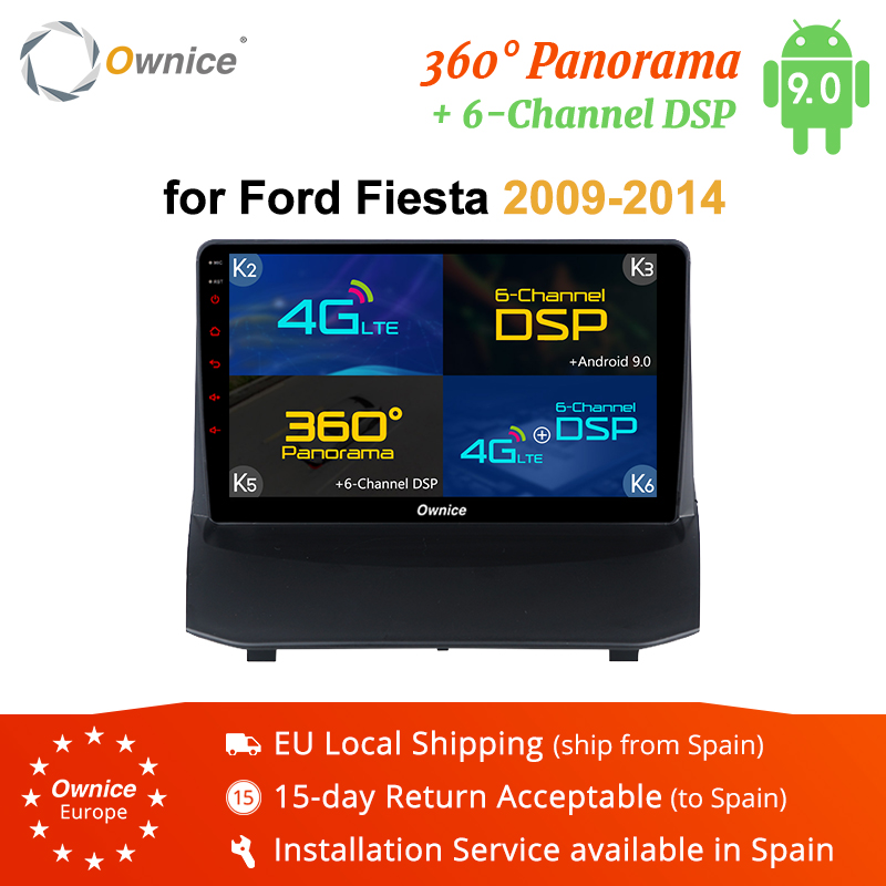 Ownice K3 K5 K6 Android 9.0 Car DVD Stereo For <font><b>Ford</b></font> <font><b>Fiesta</b></font> 2009-2014 Auto Radio <font><b>GPS</b></font> Navigation Audio Video Multimedia headunit image