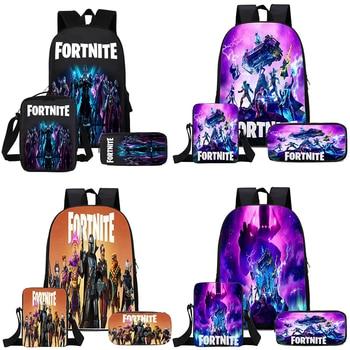 Fortnite Backpack School Capacity Waterproof Children Backpacks 3D Cartoon Schoolbags Kids Toys SchoolBag Supplies for Boys Gift