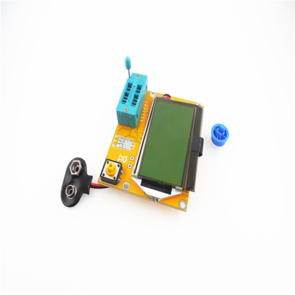 Портативный HW-308 ESR метр Транзистор тестер цифровой 12864 ЖК-экран тестер