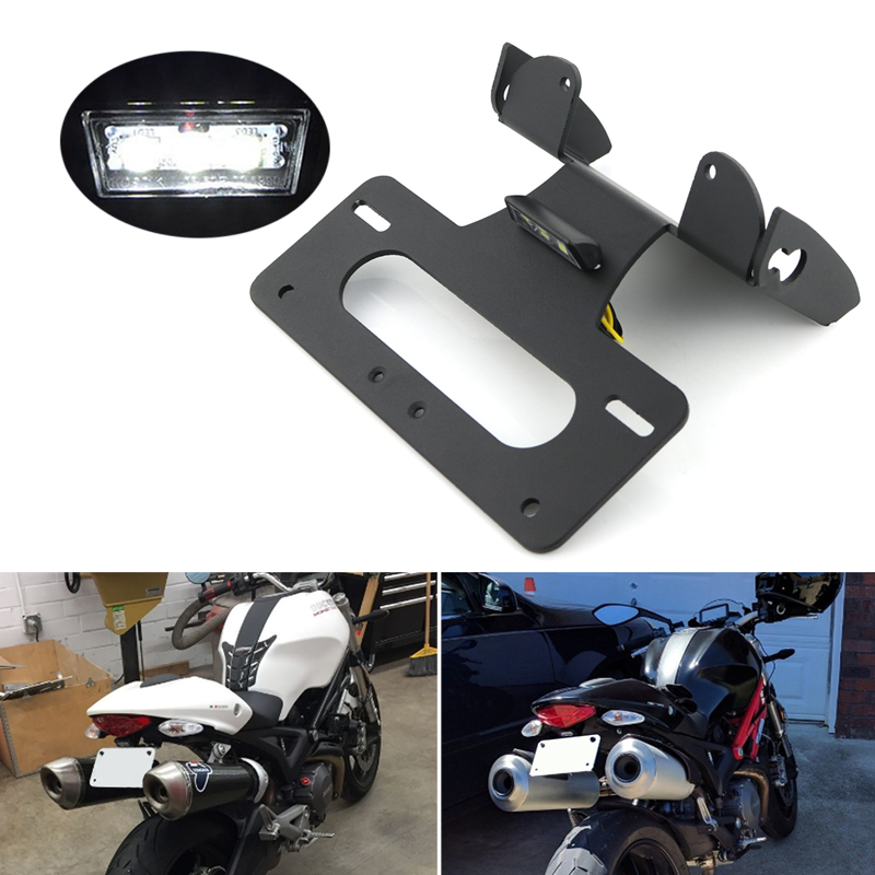 For Ducati Monster 695 696 795 796 (evo) 1100 Evo All Years License Plate Holder Bracket Rear Tail Tidy Fender Eliminator Kit