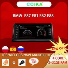 Android 10 sistema GPS para coche Navi receptor para BMW E87 E82 E81 E88 2005-2012 WIFI Google 2 + 32GB de RAM BT IPS pantalla Radio Estéreo