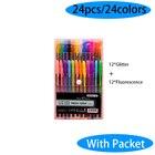 24 Colors Gel Pen Se...