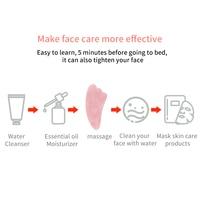 Rose Quartz Powder Crystal Jade Roller Massage Spa Natural Pink Handmade Gua Sha Stone Facial Beauty Device Face Skin Care Tool 4