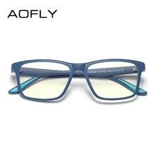 AOFLY брендовые дизайнерские квадратные компьютерные очки детские оптические очки рамы дети мальчик TR90 гибкие розовые диоптрийные очки UV400