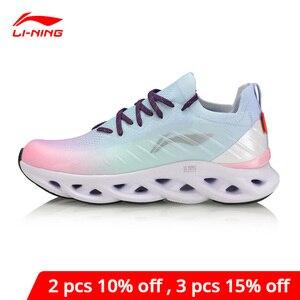 Image 1 - لى نينغ المرأة LN قوس وسادة احذية الجري أحذية رياضية تنفس أحادية الغزل بطانة لى نينغ أحذية رياضية يمكن ارتداؤها ARHP108 XYP936
