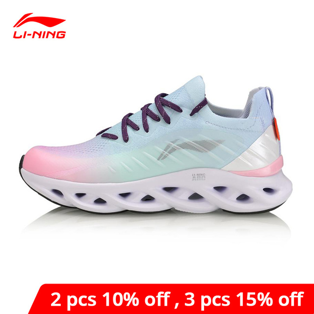 لى نينغ المرأة LN قوس وسادة احذية الجري أحذية رياضية تنفس أحادية الغزل بطانة لى نينغ أحذية رياضية يمكن ارتداؤها ARHP108 XYP936