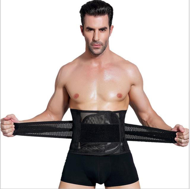 Men waist trainer пояс для похудения Shapers Slimming  Sweat Thermal Belt Belly Corset for Men Body Shaper Fat Burning  Shapers 4