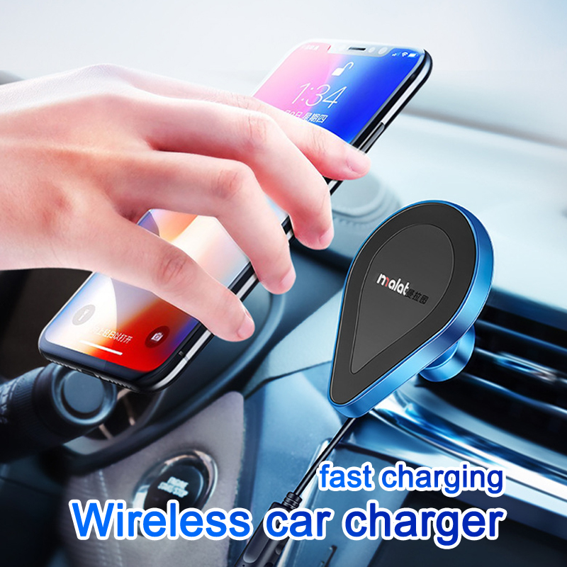 Mobile wireless charger magnetic suction wireless fast car phone holder car outlet apple android wireless charging stand