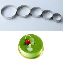diy baking accessories christmas mini stainless steel biscuit cake chocolate 3d christmas decoration bake mold kitchen gadgets 5Pcs Stainless Steel Biscuit Mould Round Shape Cake Fondant Mold Cookie Cutter Kitchen Gadgets Baking Accessories M