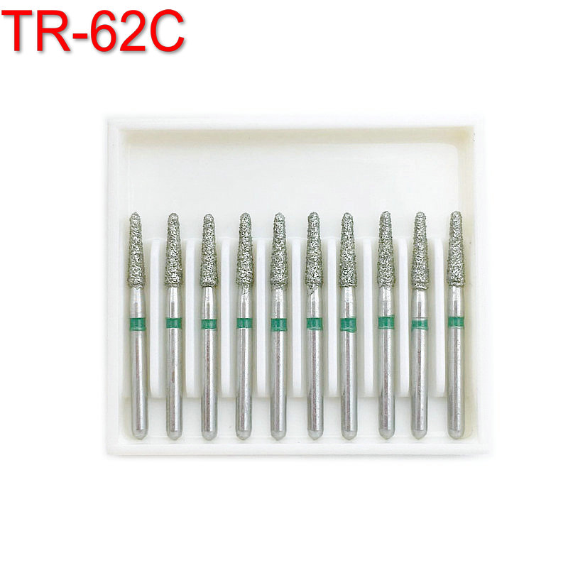 1 Box Dental Diamond Burs For High Speed Handpiece Coarse FG 1.6MM TR-62C Dentist Tools