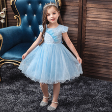 Vgiee Little Girls Clothing Princess Dress for Baby Girl Dresses Party and Wedding Mesh Sleeveless Kids Dresses for Girl CC610 cielarko girls dress sleeveless mesh baby dresses pink princess lace children party frocks ruffles kids clothing for girl