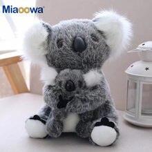 1pc simulação kawaii austrália koala brinquedo de pelúcia boneca animal de pelúcia mãe bebê crianças infantis meninas brinquedos presente aniversário decoração da sua casa
