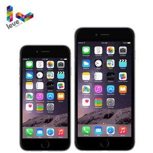 Apple 4,7 дюймов iPhone 6 и 5,5 дюймов iPhone 6 Plus оригинальный iOS 4G LTE 1 ГБ RAM 8MP двухъядерный A8 отпечаток пальца разблокированный мобильный телефон