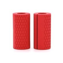 1 шт. силиконовые ручки для гантелей, штанги, толстая рукоятка, рукоятки для тяжелой атлетики, поддержка, противоскользящая защитная накладка для спортзала