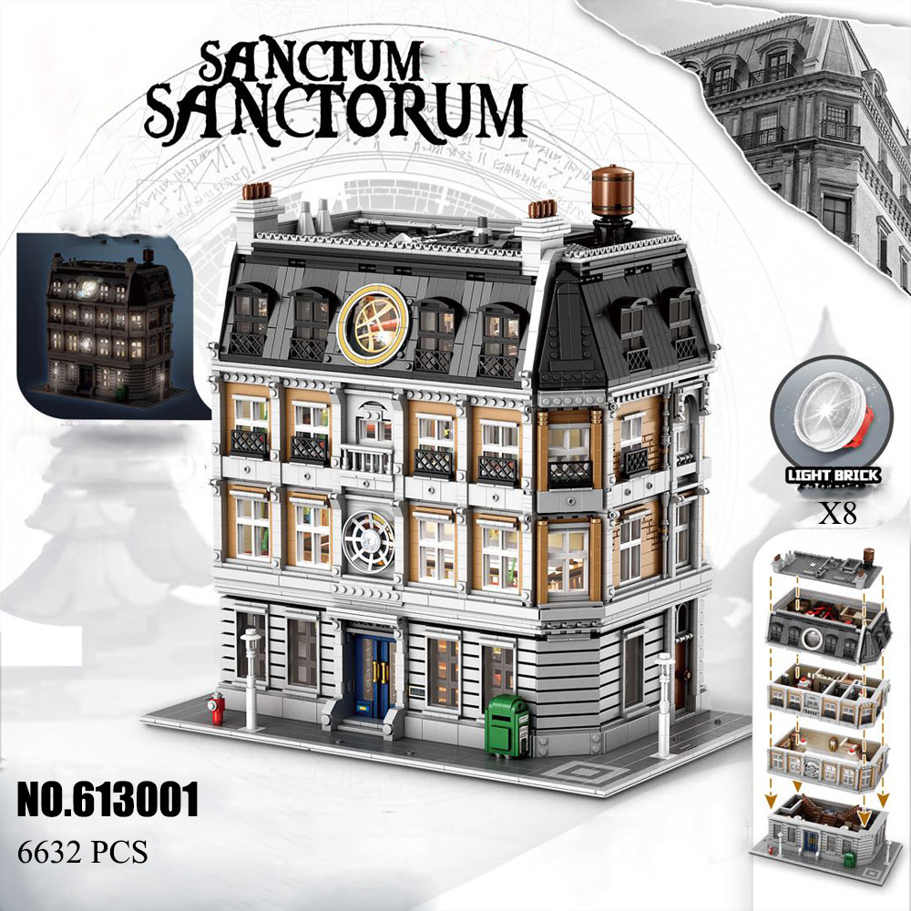 PANLOSBRICK DC Hero 613001 Doctor Strange's Sanctum Sanctorum Building Blocks 6564pcs Bricks Toys MOC-30628