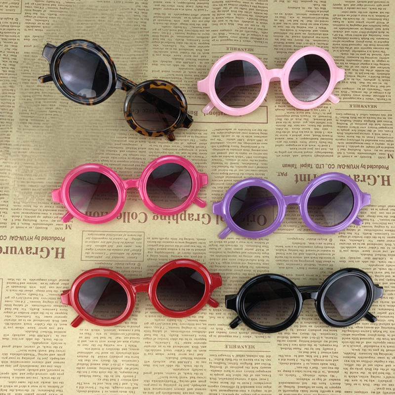 6 Colors Toddler Kid Sunglasses Boy Girl Solid Leopard Fashion Sun Glasses Kid Eyeglasses Beach Eyewear