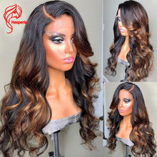 Hesperis 5.5x4.5 base de seda do plutônio fechamento do laço perucas pré arrancadas com o cabelo do bebê marrom destaque perucas de cabelo humano remy brasileiro 150%