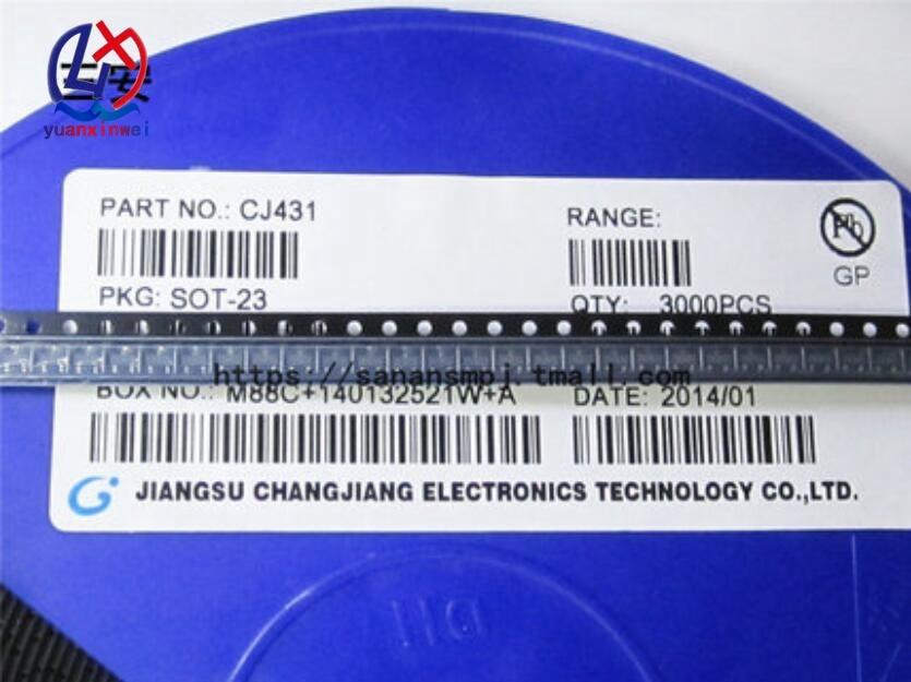 100PCS TL431 SOT TL431A SOT-23 431 SOT SMD neue spannung regler gemacht IC