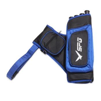 SPG 4 Tube Archery Arrow Bag Composite Recurve Bow Arrow Quiver Universal 48*18cm Wear Resistant High Capacity Designed