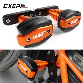 For KTM Duke 390 DUKE 250 200 125 Motorcycle CNC Aluminum Falling Protection Left and Right Frame Sliders Protector