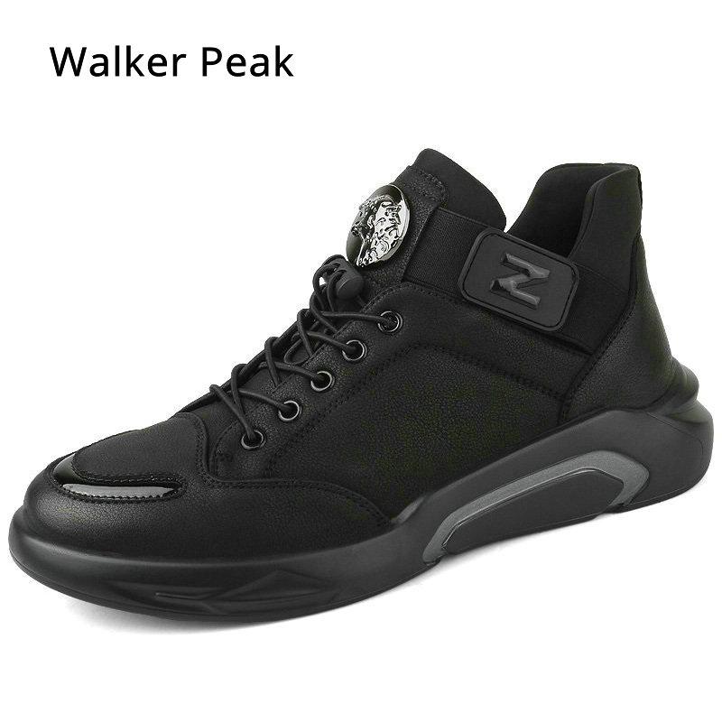 Ayakk.'ten Erkek Rahat Ayakkabılar'de Erkek spor ayakkabı rahat ayakkabılar sonbahar hakiki deri ayakkabı erkek Lace Up Flats moda erkek ayakkabı yeni tasarım ayakkabı erkekler için 2018'da  Grup 1