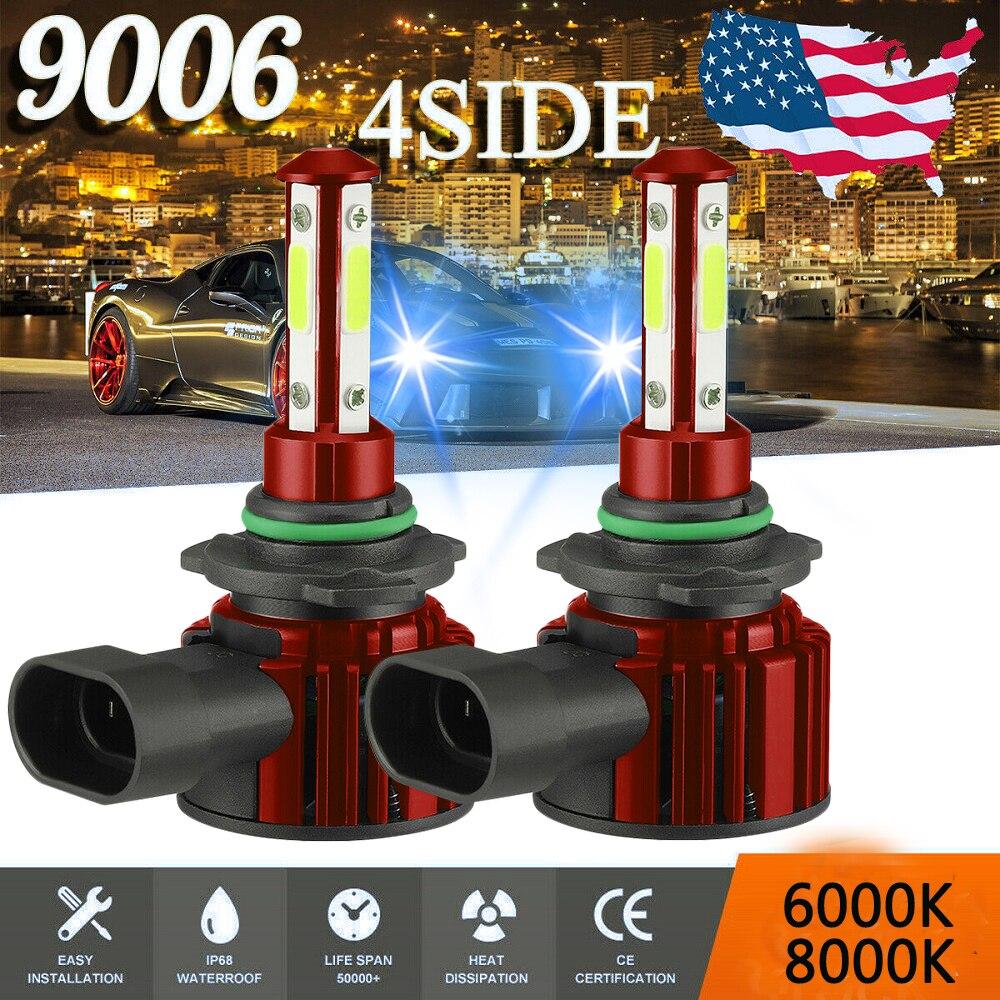 CarTnT 2 шт. светодиодный 20000LM автомобильные лампы для передних фар H7 H8 H9 H11 Автомобильные фары 9005 HB3 9006 HB4 авто лампы 6000K 8000K светодиодный лампы 12V ...